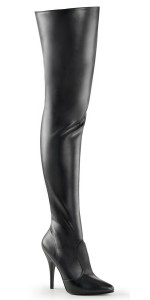 Pretty Woman Seduce Black Thigh High Boots