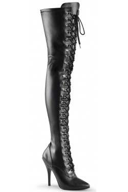 Seduce Lace Up Thigh High Boots Stripper Plus Clubwear Stripper Clothes, Exotic Dancewear, Sexy Club Wear, Extreme Platform Shoes