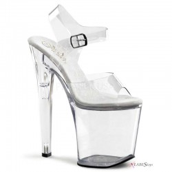 Clear Xtreme 8 Inch High Platform Sandal Stripper Plus Clubwear Stripper Clothes, High Heels, Dance Costumes, Sexy Club Wear
