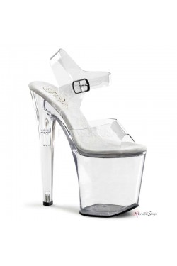 Clear Xtreme 8 Inch High Platform Sandal Stripper Plus Clubwear Stripper Clothes, Exotic Dancewear, Sexy Club Wear, Extreme Platform Shoes