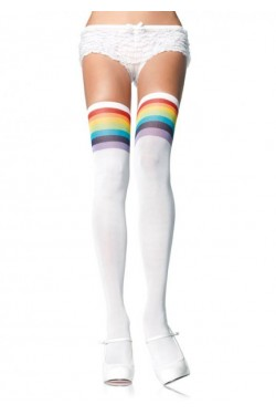 Over the Rainbow Thigh High Stockings Stripper Plus Clubwear Stripper Clothes, Exotic Dancewear, Sexy Club Wear, Extreme Platform Shoes